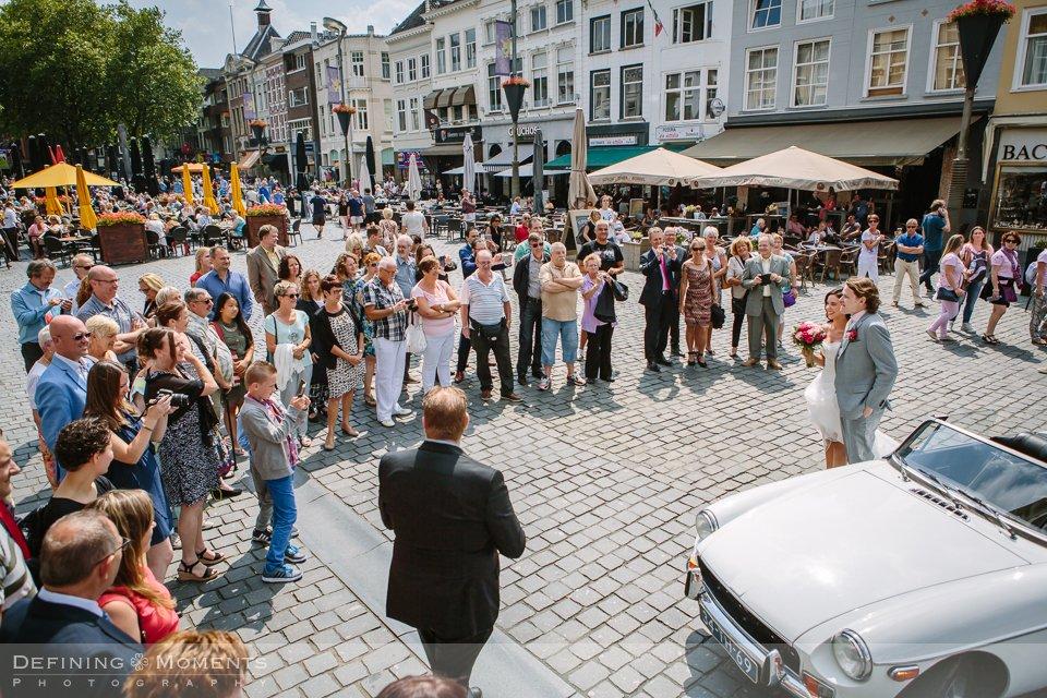 trouwreportage bruidsreportage trouwfoto bruidsfotografie duo team stadhuis breda centrum binnenstad slotjes_brug haven el_mundo galderse_heide