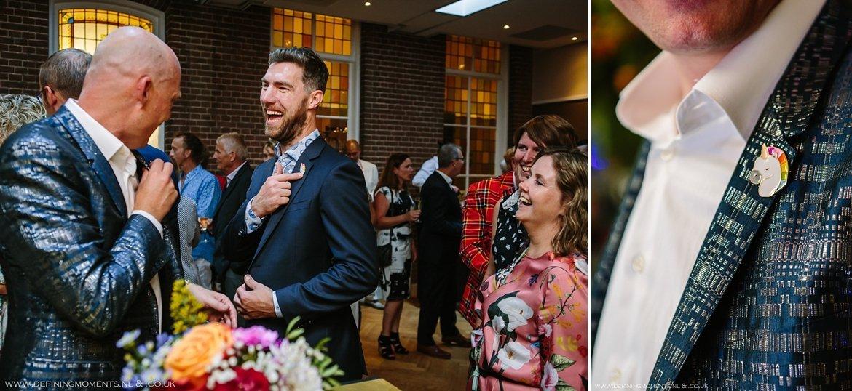 eenhoorn trouwringen trouwring trouwceremonie trouwfoto bruidsfoto bruidegommen homohuwelijk gay lgbt same_sex wedding breda hotel_nassau trouwfotograaf bruidsfotograaf blauw rood tijger trouwpak