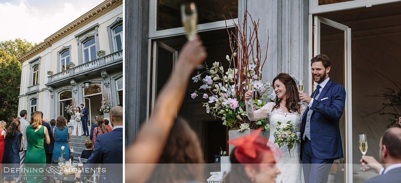 toast bruidspaar receptie landgoed wolfslaar breda sketches speeches authentieke ongeposeerde documentaire trouwfotografie journalistieke bruidsfotografie