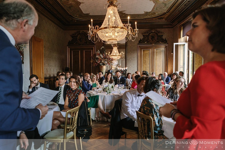 bruidspaar diner landgoed wolfslaar grote salon breda speeches authentieke ongeposeerde documentaire trouwfotografie journalistieke bruidsfotografie
